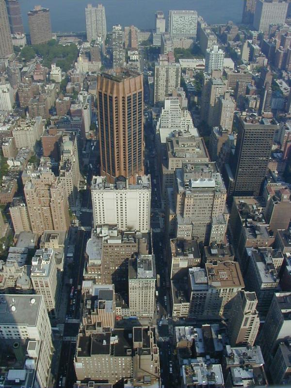 Näkymä Empire State Buildingista itään