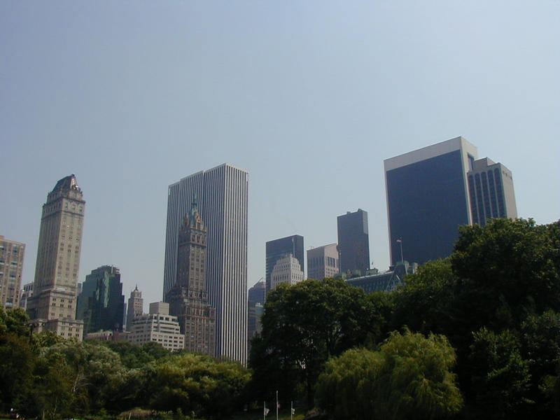 Skyscrapers bordering the Central Park