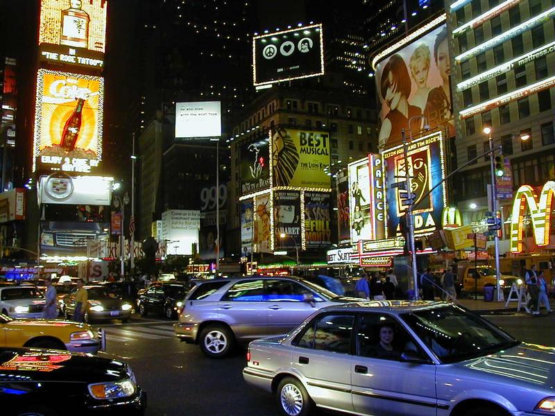 Times Square yöllä