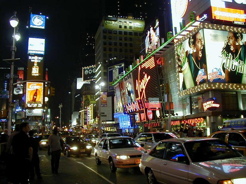 Times Squarea yöllä