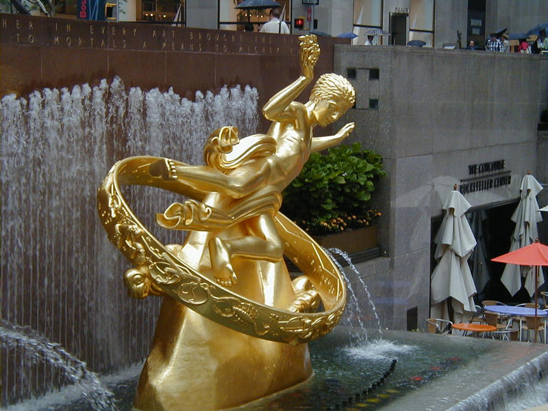 The Prometheus statue at Rockefeller Center