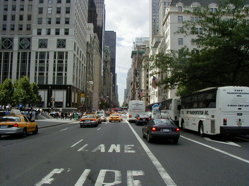 The fifth avenue at the Plaza hotel