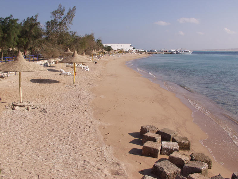 A beach on the Red Sea