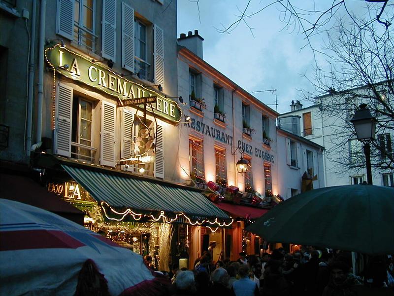 Houses at Place du Tertre at Montmartre