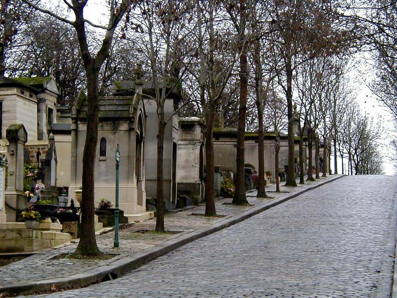 Näkymä Pere Lachaisen hautausmaalla