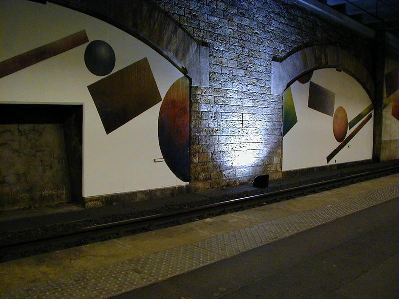 Taidetta Pereire-Vallois'n asemalla