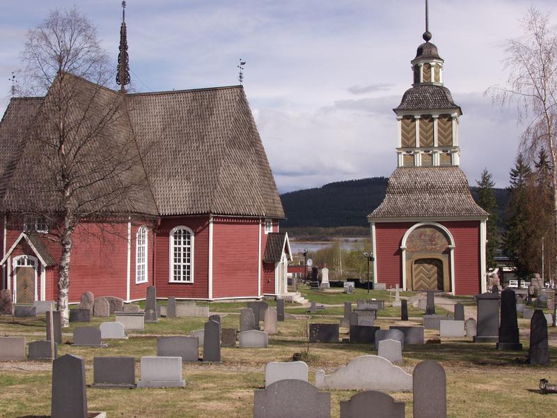 The Övertorneå church and cemetery