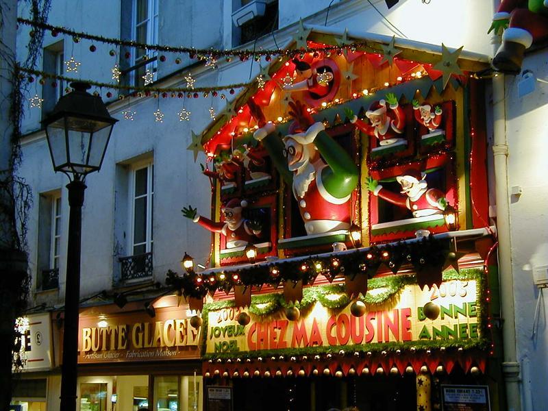 Joulukauppa Montmartrella