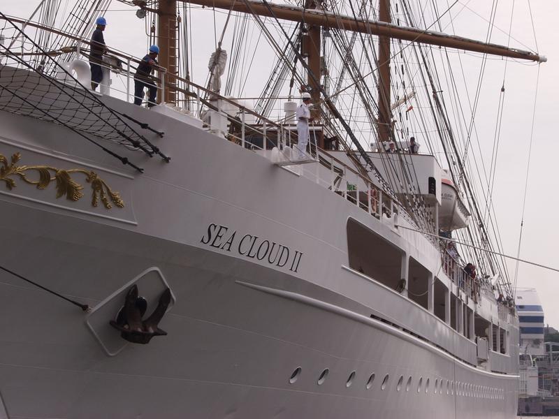 Sea Cloud II sail boat at Eteläsatama port