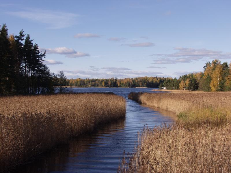 The Blindsund sound connects the Morsfjärden to the Baltic sea