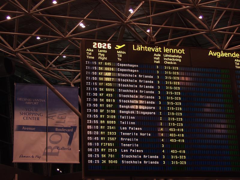 Helsinki-Vantaan lentoaseman ulkomaanlentojen lähtöaula