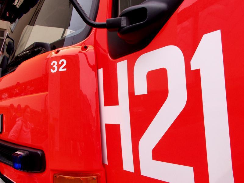 A firetruck's front