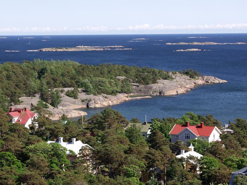 A view from Hanko water tower to Puistovuori cape