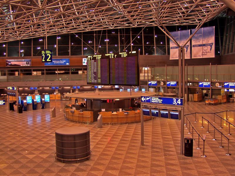 International departures hall at Helsinki-Vantaa airport