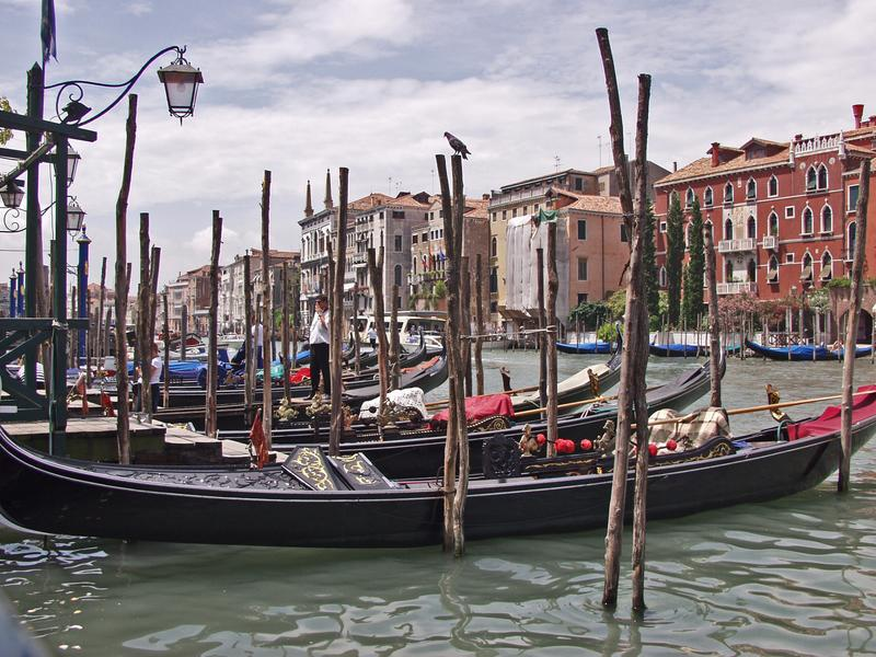 Gondolas in the Grande Canale