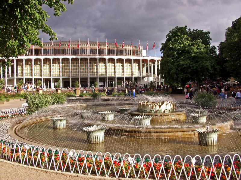 Water fountains at the Tivoli