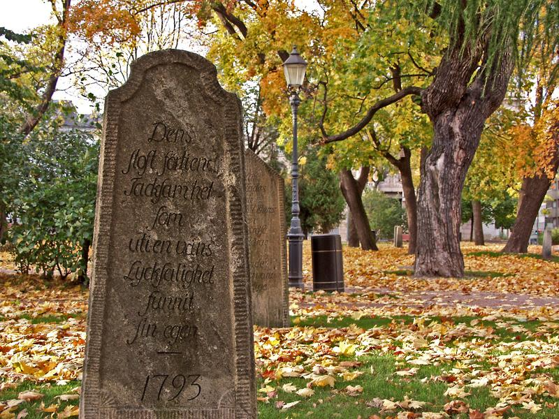 Old tomb stone at the Old church park