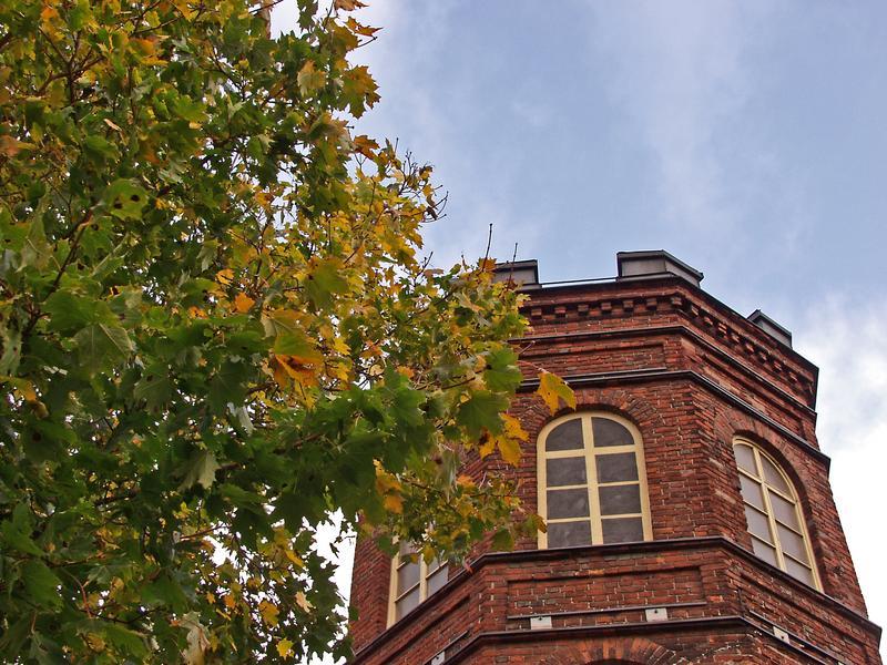 Syksyinen torni Sinebrychoffin puistossa