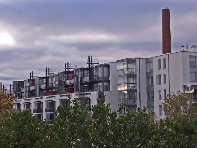 New apartment building in an old factory milieu