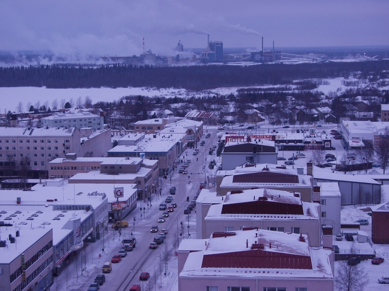 Kemi city centre and Metsä-Botnia's paper mills