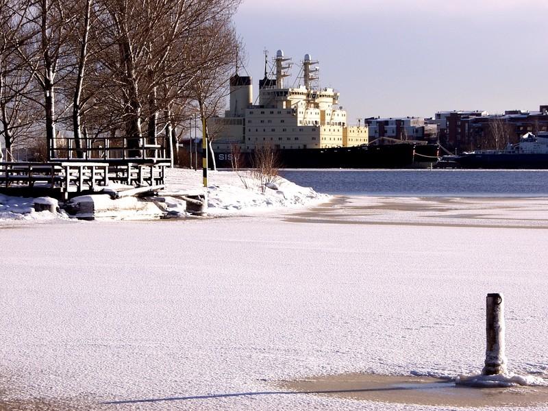 Talvinen maisema Tervasaaressa