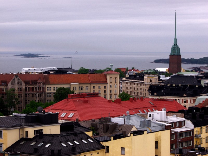 A view from Erottaja fire house tower to the south