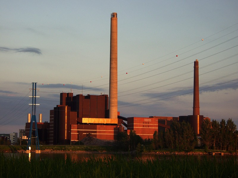 Salmisaari coal electric plant