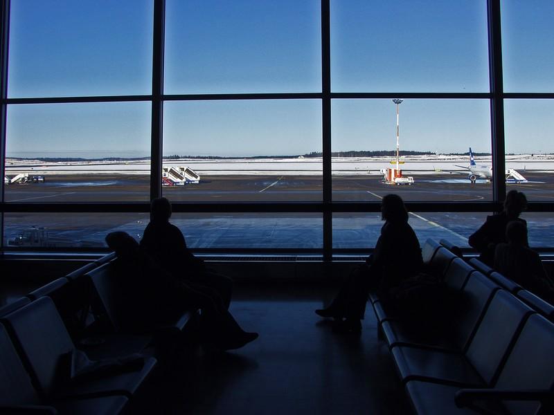 Näkymä ulkomaan terminaalista ulos