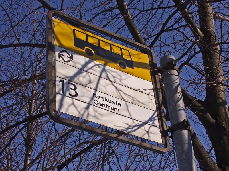 Bus line sign
