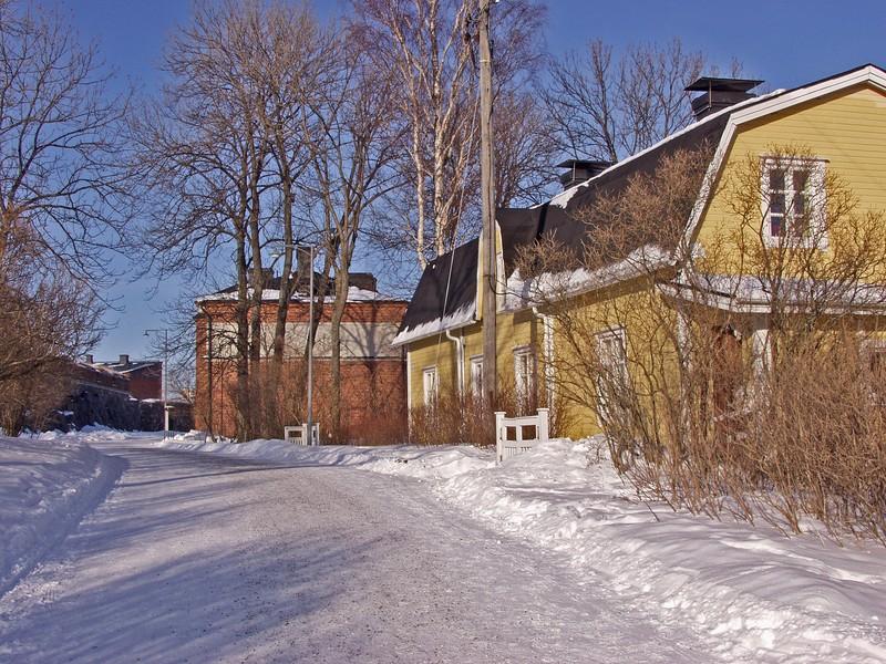 Tyypillinen näkymä Suomenlinnassa
