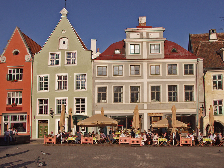 Houses at the city hall square