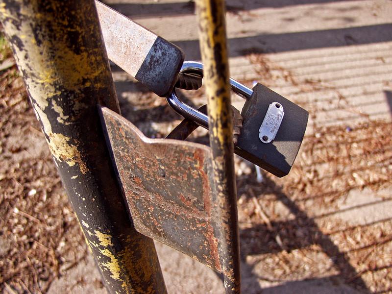 A lock in a gate