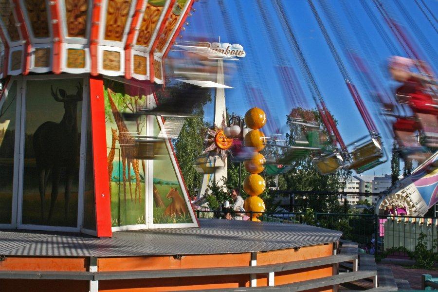 A chain carousel at Linnanmäki amusement park