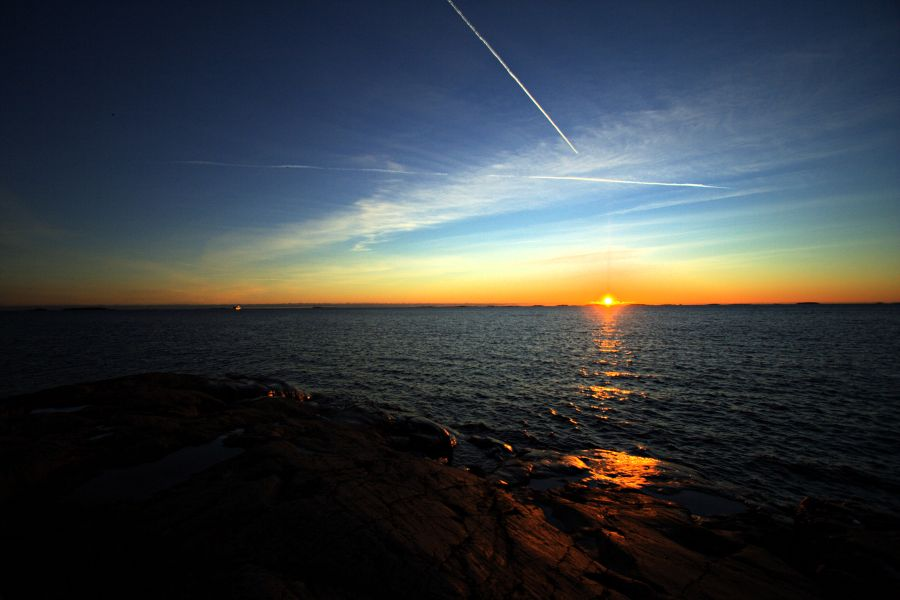 Sunset seen from Länsi-Mustasaari