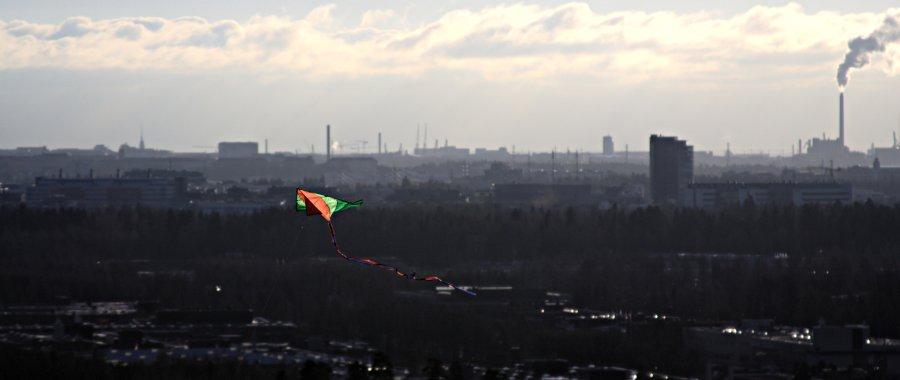 A kite over Helsinki