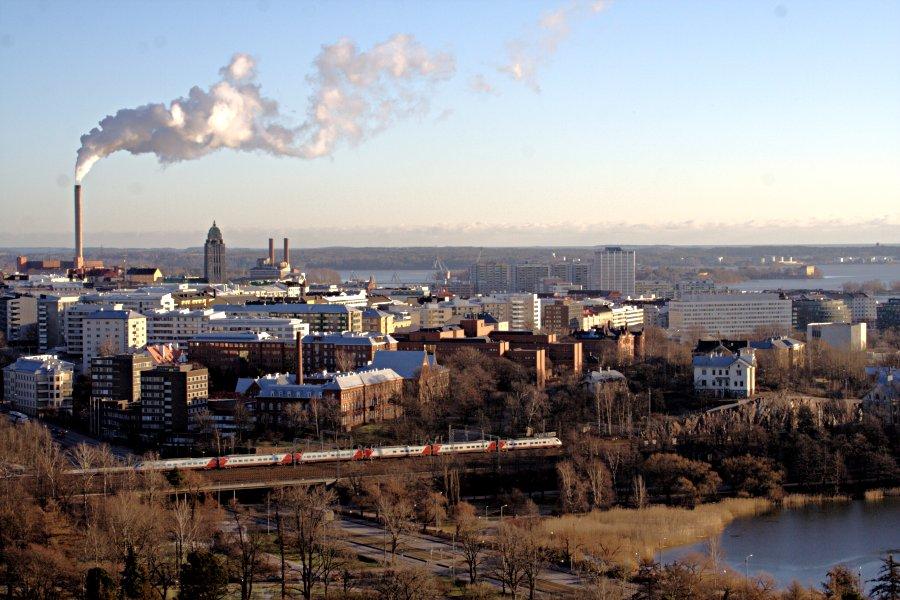 Töölönlahden pohjukka ja Kallion ja Hakaniemen kaupunginosat