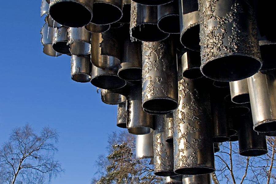 Detail on the Sibelius monument