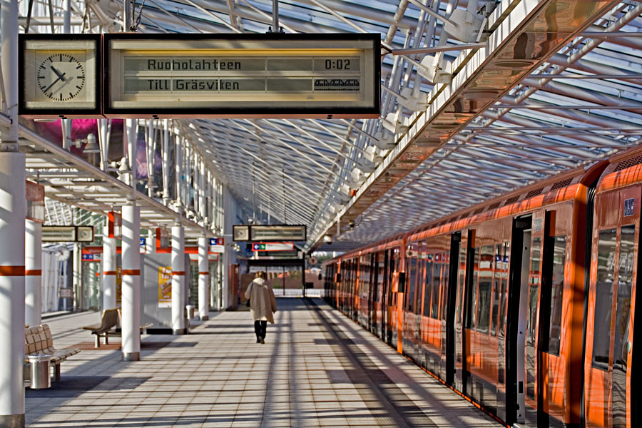Metro Vuosaaren asemalla