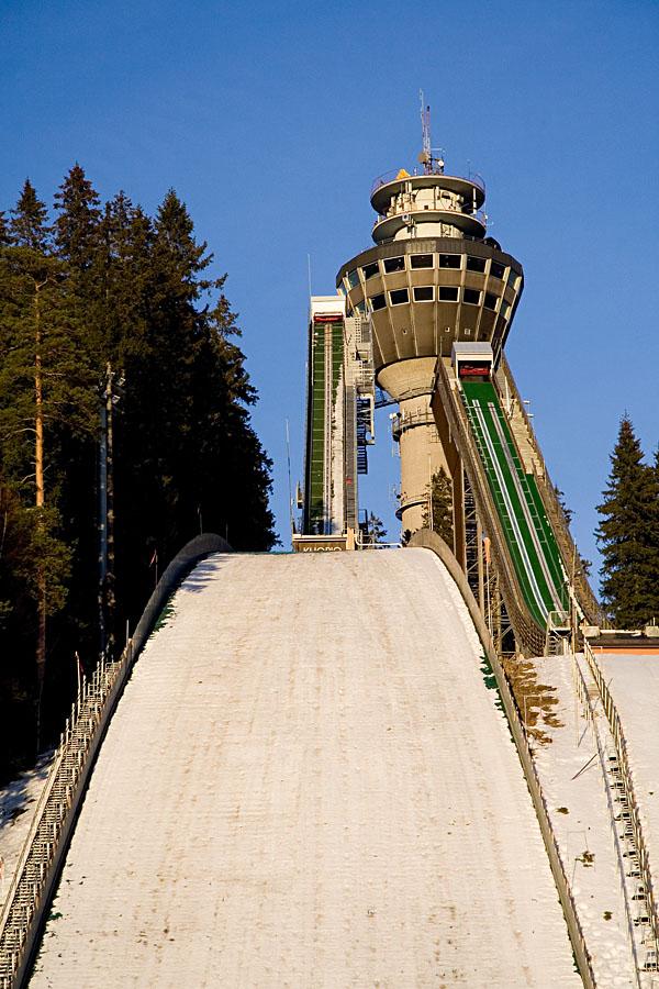 Kuopio ski jump towers and Puijo tower