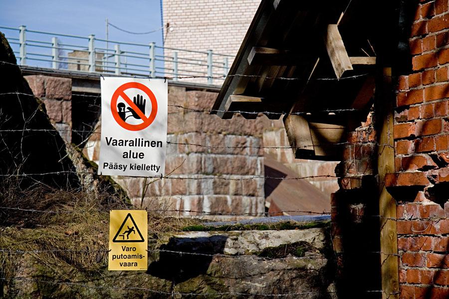 Varoitusmerkkejä Korkeakosken voimalaitoksella