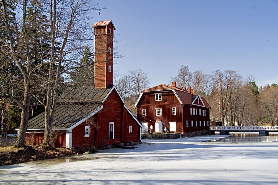 Historical industrial milieu at Strömfors
