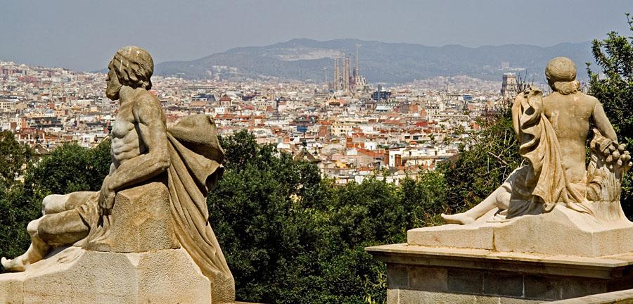 Näkymä Katalonian taidemuseon portailta