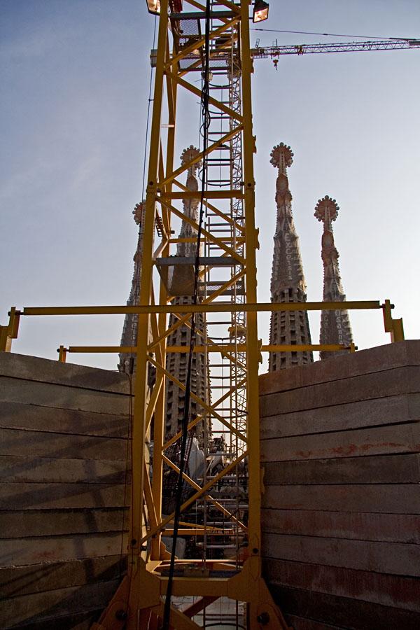 Sagrada Familian rakennustyömaa