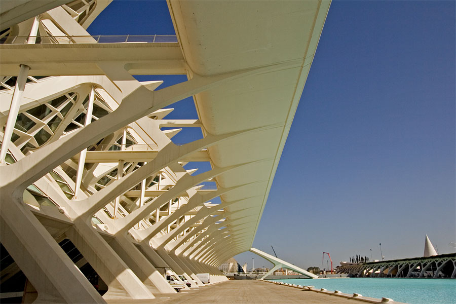 Valencian tiedemuseon arkkitehtuuria