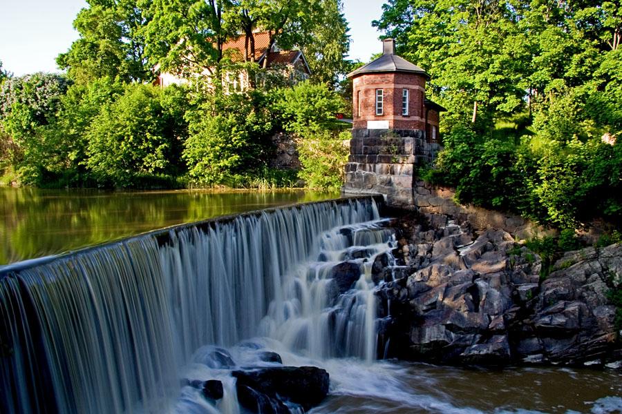 Waterfall at Vanhankaupunginkoski