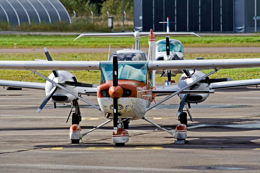 Aircraft neatly aligned