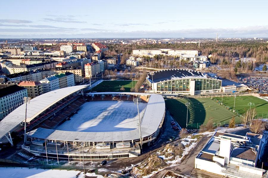 Pohjoisnäkymä stadionin tornista