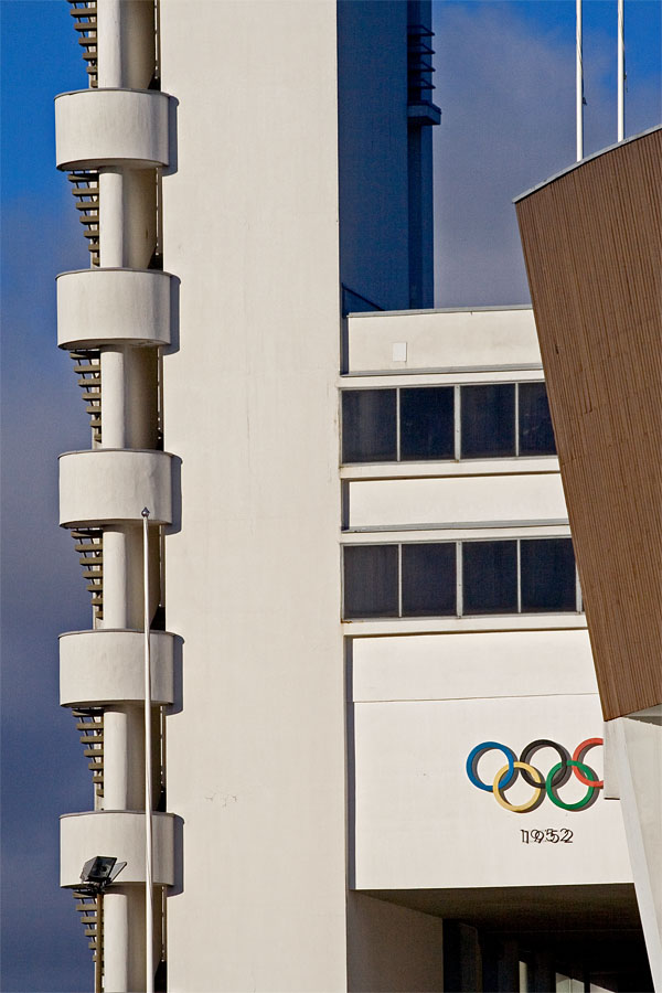 Lowest floors of the olympic stadium tower