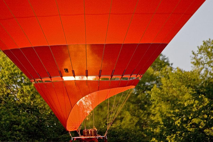 Warming up a hot-air balloon