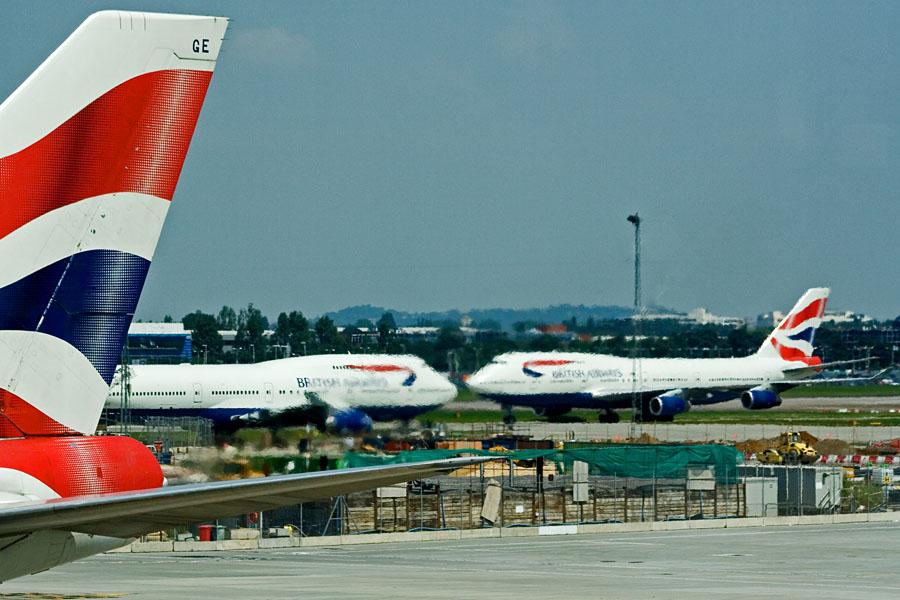 British Airwaysin Boeing 747-lentokoneita